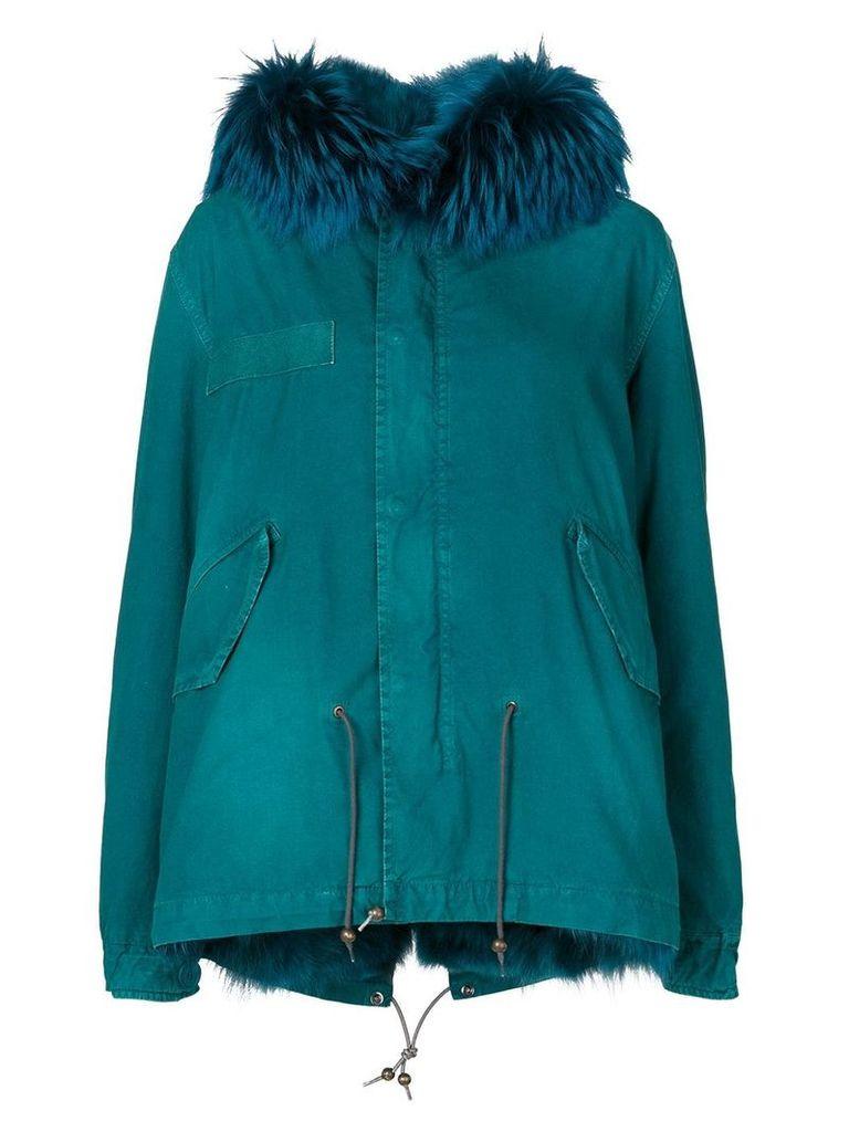 Mr & Mrs Italy fur trim hooded parka - Blue