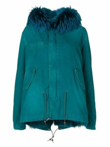 Mr & Mrs Italy fur trim hooded parka - Blue