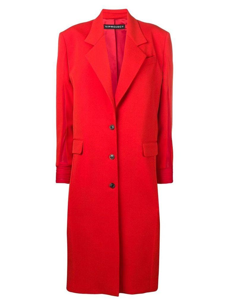 Y/Project oversized midi coat - Orange