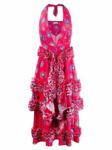 Molly Goddard Daisy print ruffle dress - Pink