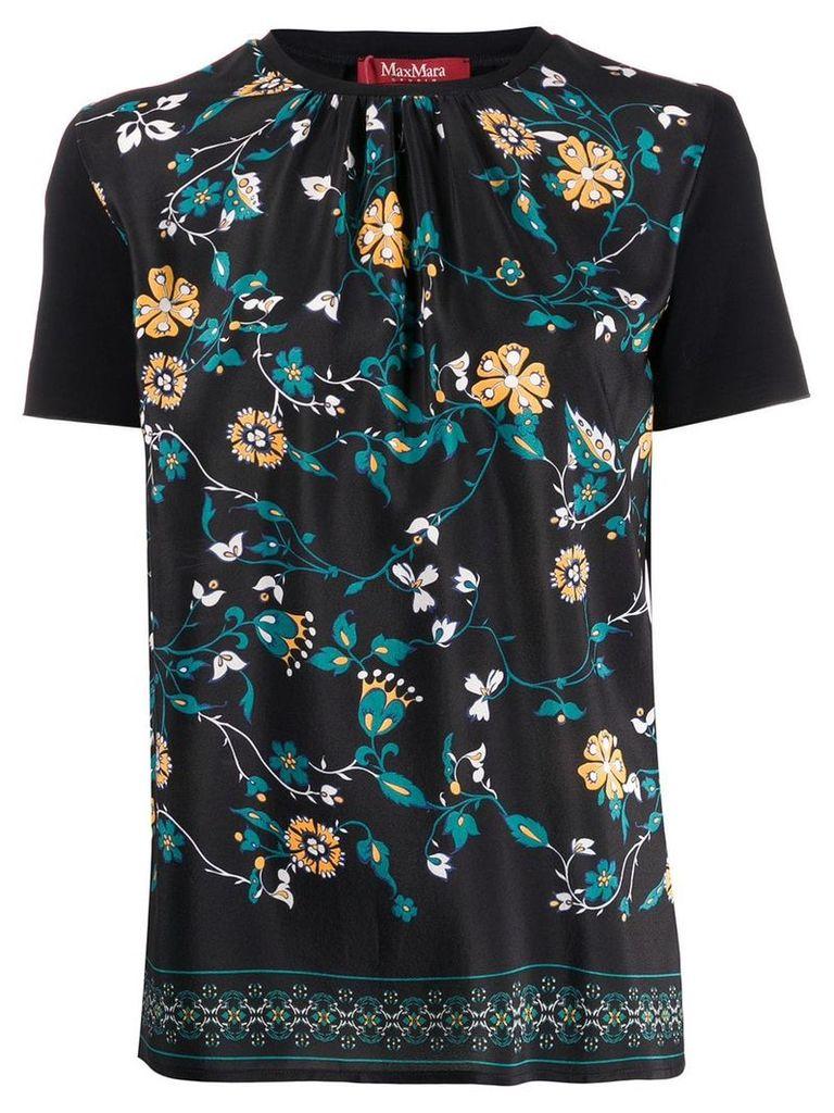 Max Mara floral print top - Black