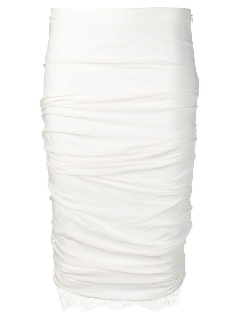 Tom Ford fitted pencil skirt - White