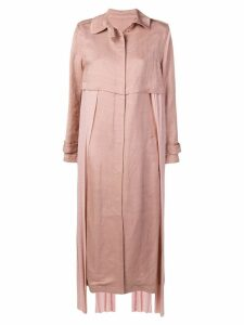 Esteban Cortazar belted trench coat - Pink