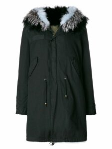 Mr & Mrs Italy fur lined mid parka - Black