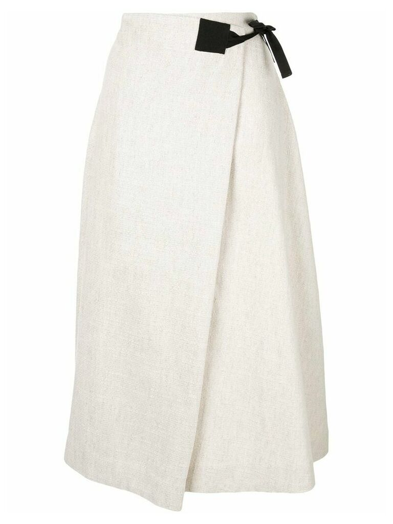 Rosetta Getty contrast wrap skirt - Metallic