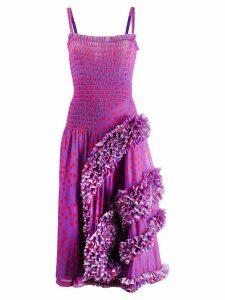 Molly Goddard polka dot flamenco-styled dress - Purple