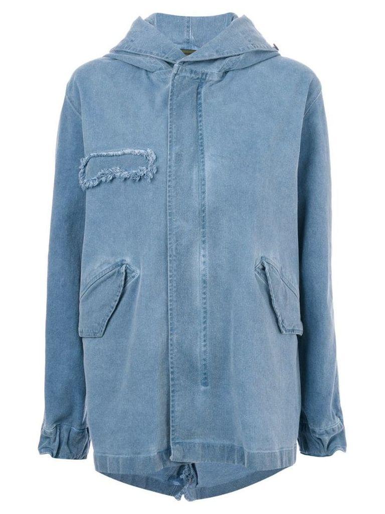 Mr & Mrs Italy denim parka coat - Blue