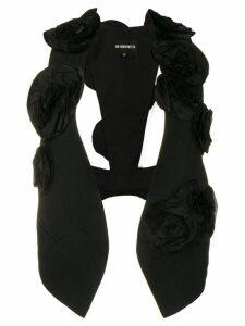 Ann Demeulemeester flower appliqué waistcoat - Black