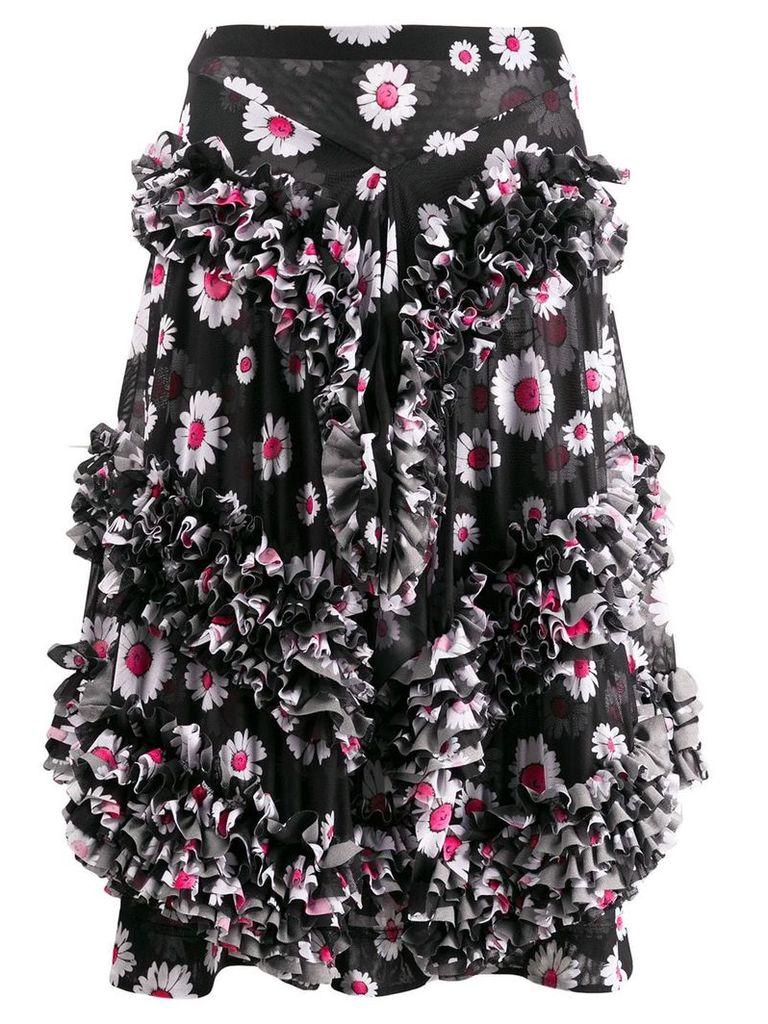 Molly Goddard Daisy ruffled skirt - Black