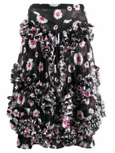 Molly Goddard Daisy ruffled skirt - Black