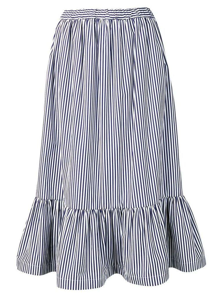 Comme Des Garçons Girl striped flared skirt - Blue