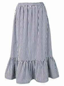 Comme Des Garçons Girl striped flared skirt - Blue