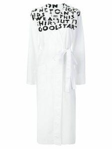 Mm6 Maison Margiela handwriting wrap dress - White