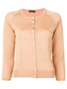 Roberto Collina lurex knit cardigan - Orange