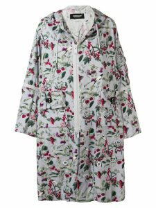 UNDERCOVER printed hooded coat - Purple
