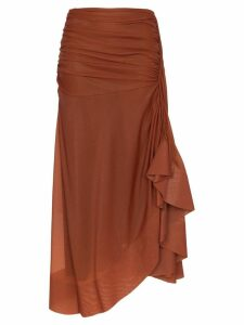 Mugler Sienna draped midi skirt - Brown
