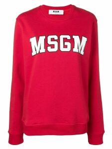 MSGM college logo sweatshirt - Red