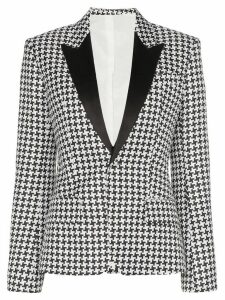 Haider Ackermann single-breasted check blazer - Black