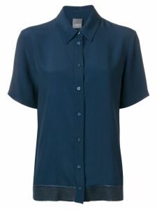 Lorena Antoniazzi short-sleeve fitted shirt - Blue