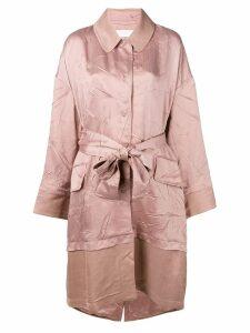 Esteban Cortazar contrast volume coat - Pink