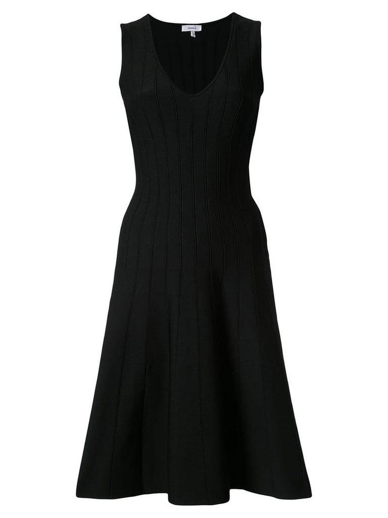 Casasola pleated flare dress - Black