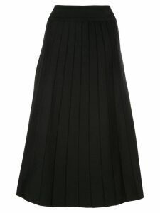 Casasola A-line pleated midi skirt - Black