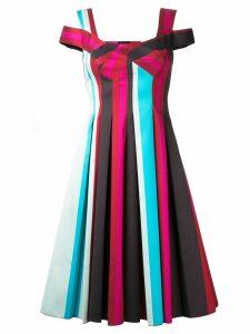 Paule Ka pleated striped dress - Multicolour