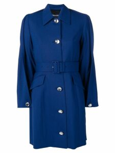 Y/Project folded detail trench coat - Blue