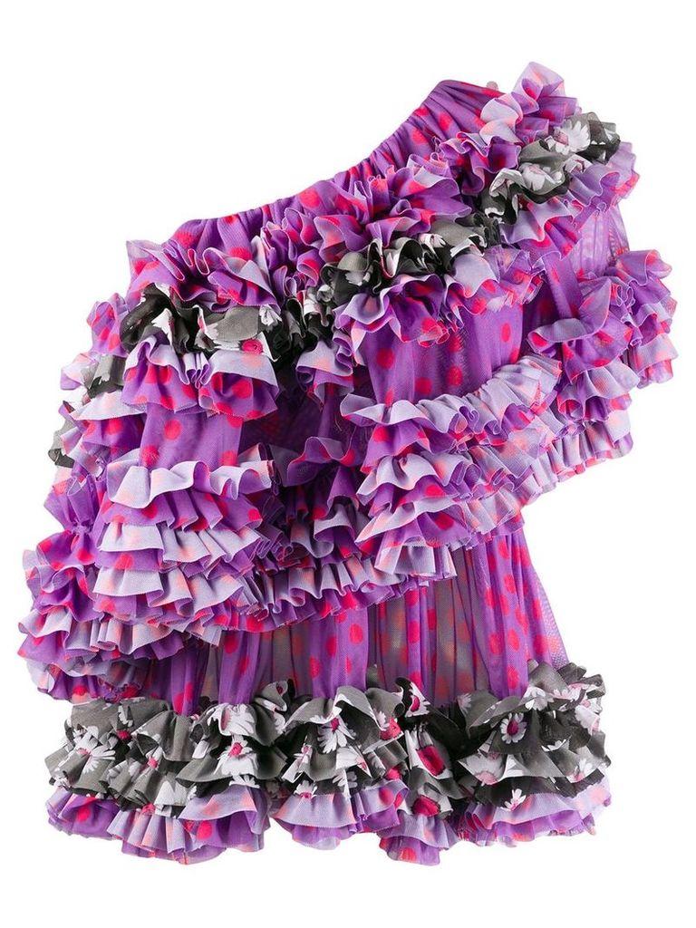 Molly Goddard ruffle-trimmed blouse - Purple