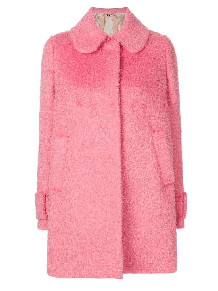 Nº21 curved collar coat - Pink