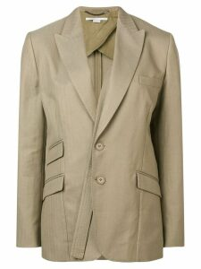 Stella McCartney strap detail single-breasted blazer - Neutrals