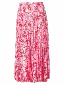 Valentino floral print pleated skirt - Pink