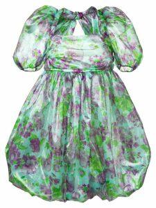 Vivetta floral print puff dress - Green