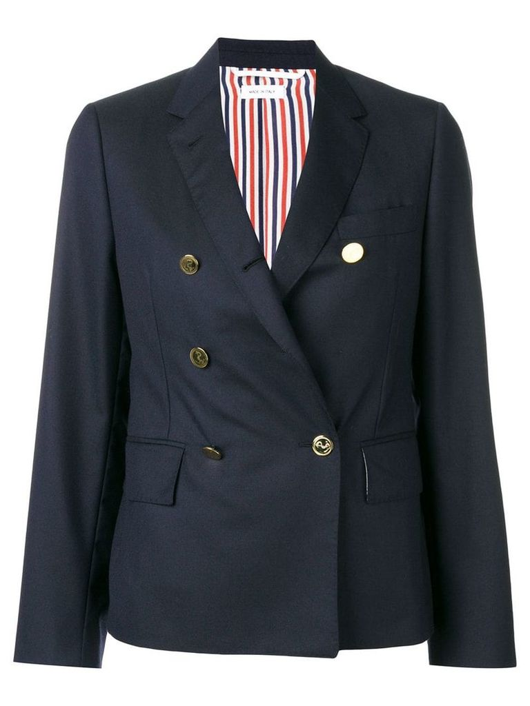Thom Browne Narrow Shoulder Wool Sport Coat - Blue
