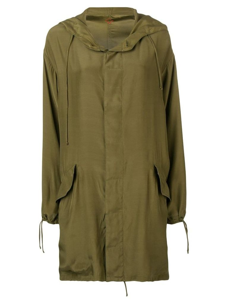 A.F.Vandevorst oversized hooded coat - Green