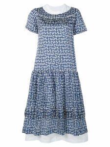 Comme Des Garçons Comme Des Garçons geometric print dress - Blue