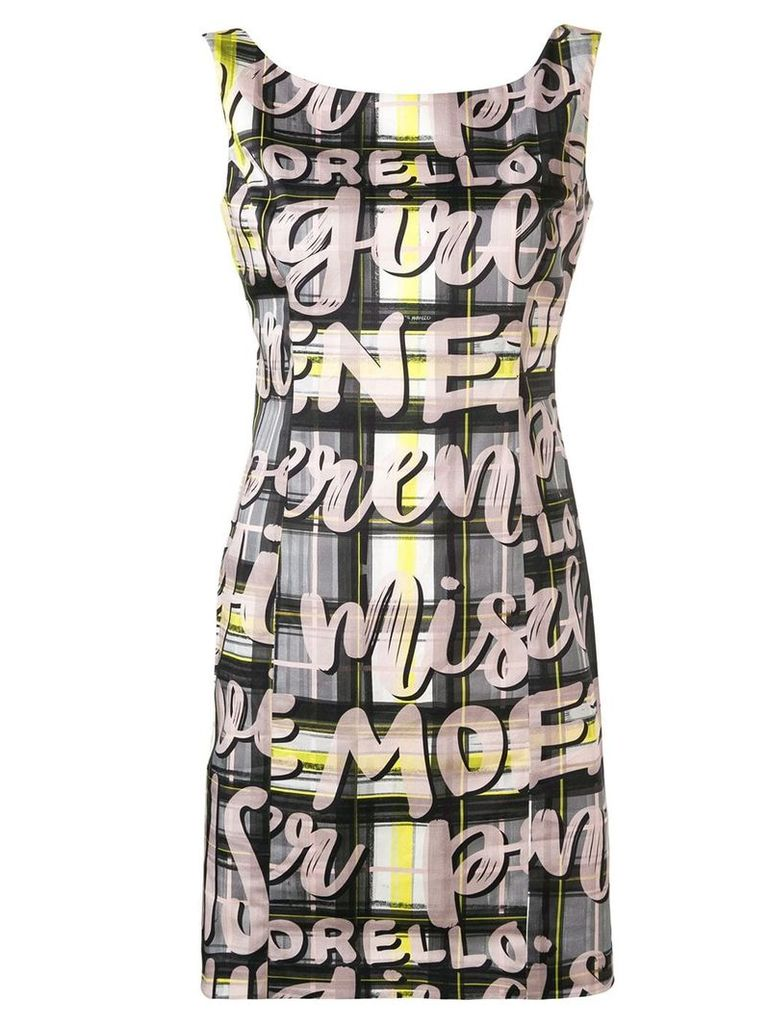 Frankie Morello check and graphic print dress - Black