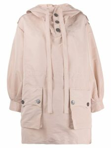 Nº21 button hooded jacket - Pink
