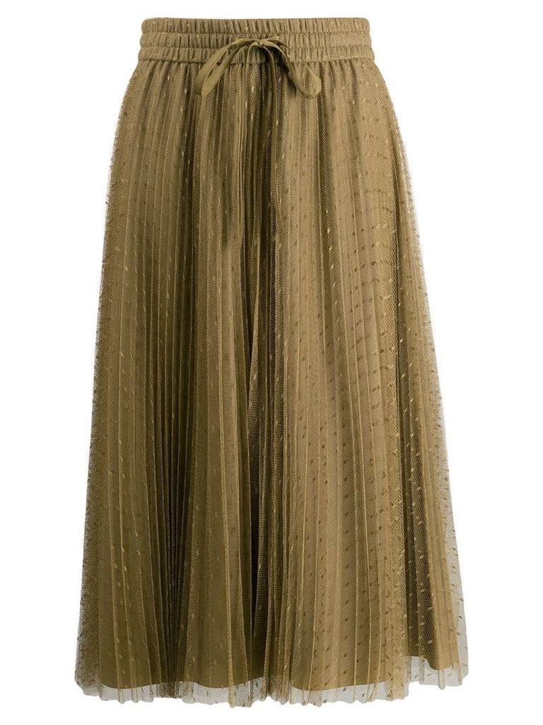 Red Valentino dotted tulle overlay skirt - Green
