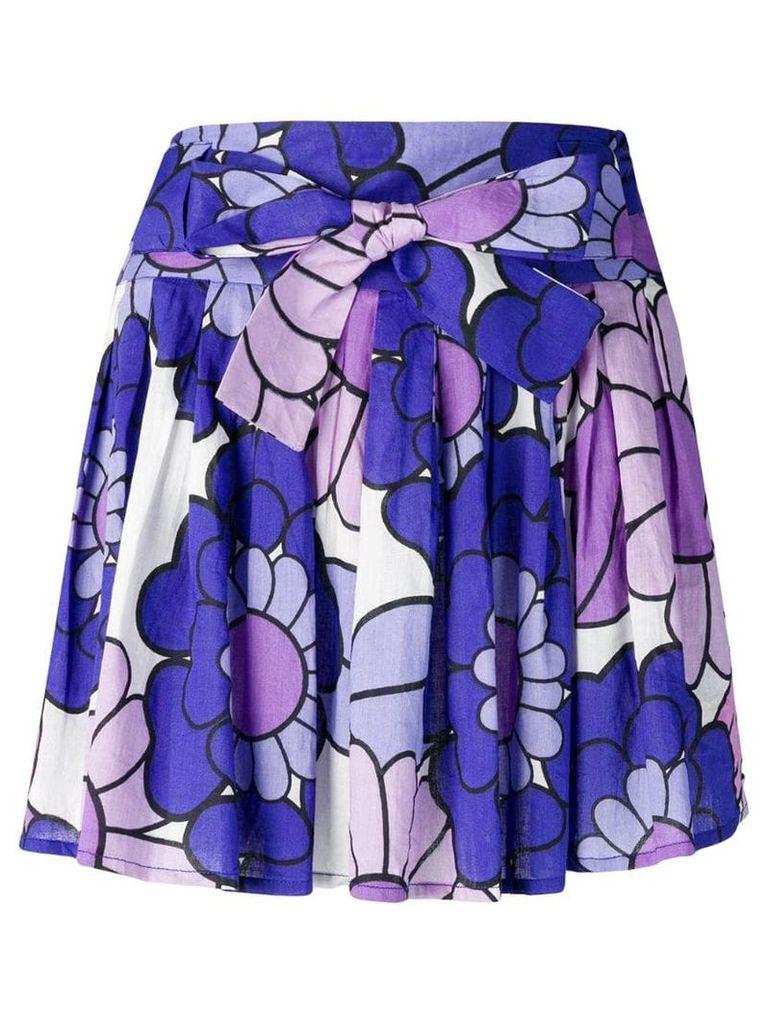 Dodo Bar Or pleated floral skirt - Purple