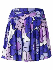 Dodo Bar Or pleated floral skirt - Purple