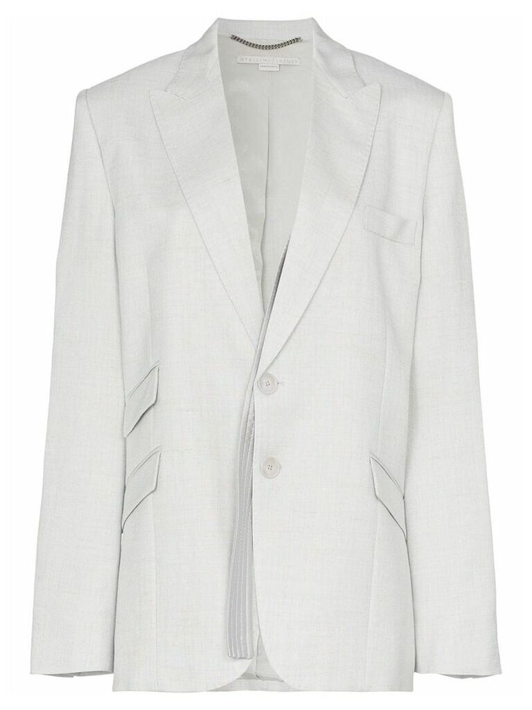 Stella McCartney single breasted suit blazer - Grey