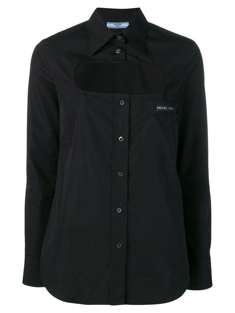 Prada cut-out detail shirt - Black