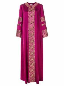 Layeur jacquard embelished flared dress - Purple
