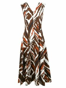 Erika Cavallini all-over print dress - Brown