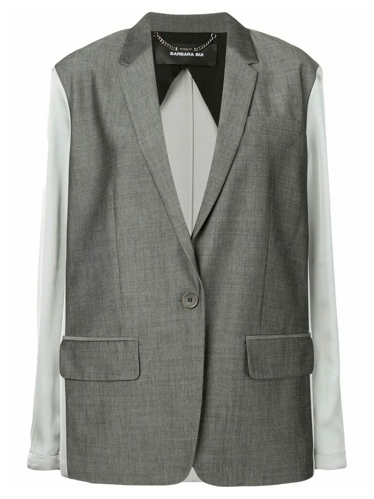 Barbara Bui contrast fitted blazer - Grey