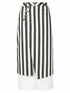 Rejina Pyo layered striped skirt - Neutrals