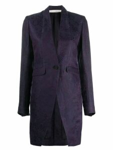 Isabel Benenato longline patterned jacket - Purple