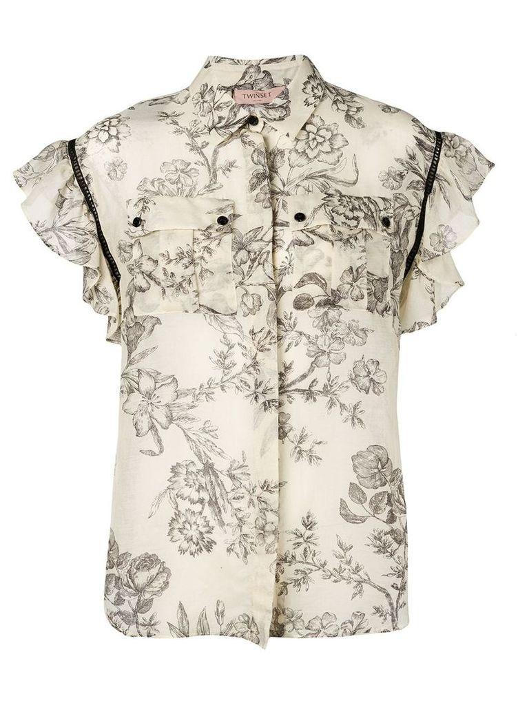Twin-Set toile de jouy blouse - Neutrals