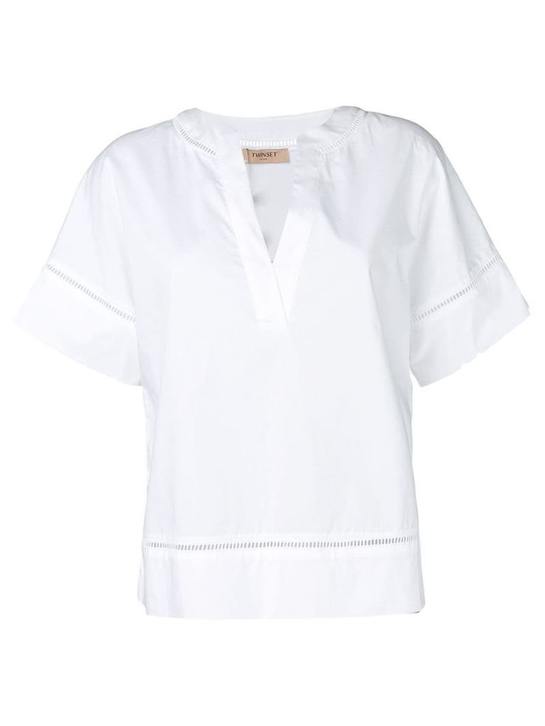 Twin-Set poplin shirt - White